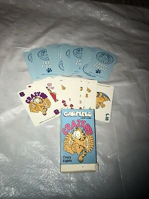 Garfield the Cat Crazy Eights Playing Cards 36 Card Deck -Crazy 8 game 1978 art