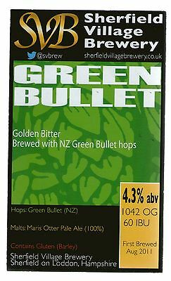 Sherfield Village Brewery - Green Bullet - Pump Clip Front