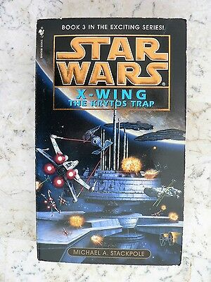 Vintage STAR WARS X-Wing The Krytos Trap 1996 Stackpole Paperback