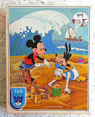 SEALED Vintage DISNEY Puzzle Mickey Mouse ON THE BEACH Whitman