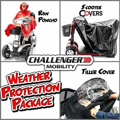 Scooter Weather Protection Package - Challenger Large Scooter Cover, Tiller Rain