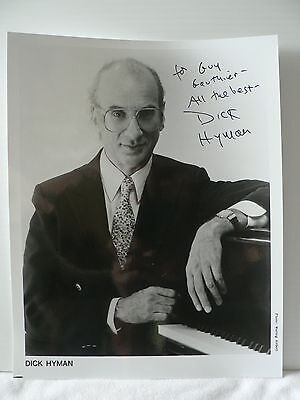 DICK HYMAN * American jazz pianist and composer  AUTOGRAPH SIGNED PHOTO