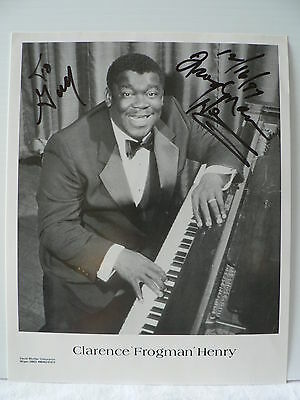 CLARENCE ' FROGMAN ' HENRY *   pianist and trombonist *  AUTOGRAPH SIGNED PHOTO