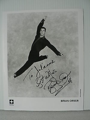 BRIAN ORSER Figure Skater  AUTOGRAPH SIGNED PHOTO