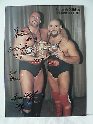 IVAN KOLOFF Wrestling Legend  AUTOGRAPH SIGNED PHOTO