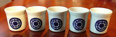 5 Wedgwood Toledo Egg Cups Made In England
