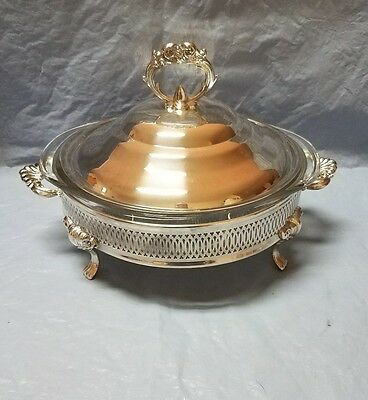 Silverplated Chafer Bowl with Silverplated Lid