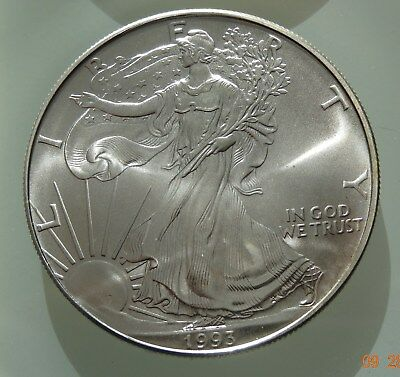 1993 Liberty Orig Uncirculated .999 1 Oz Fine Silver Well Worth Look $1St Nr
