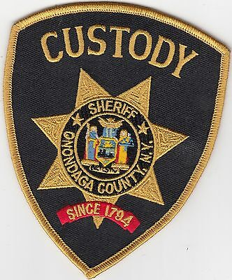 "Onondaga County Sheriff ""custody"" New York Police Patch Ny"