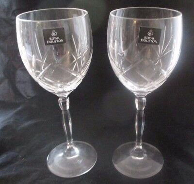 2 Royal Doulton Wine Glasses