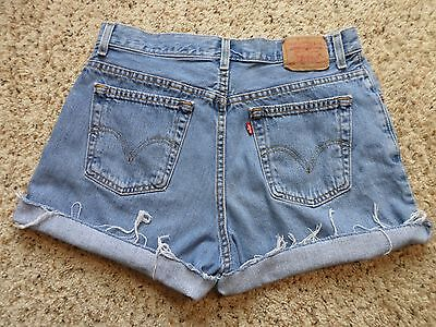 Vintage Levi's Classic Jean Shorts~Cutoff~Frayed~High Waist~Mexico~Size 12