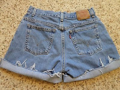 Vintage Levi's Classic Jean Shorts~Cutoff~Frayed~High Waist~Mexico~Size 10