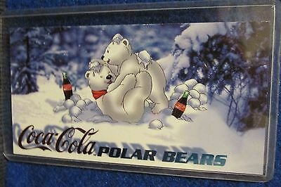 1996 Coca-Cola Sign of Good Taste Polar Bear Subset Card #PB-1