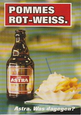 1 Postkarte - Astra-Bier Hamburg - Pommes Rot-Weiss (mit Ketchup+Mayo, pervers)
