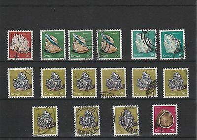 Kenya - 1977 - Assorted Minerals Stamps - Used