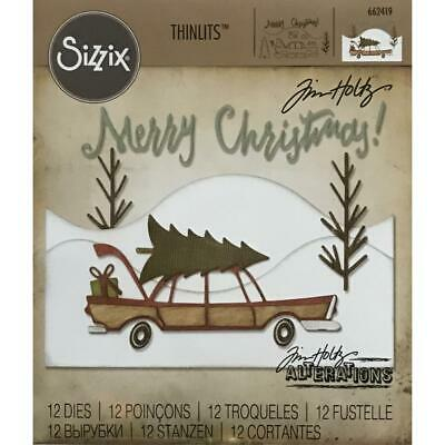 Tim Holtz Thinlits - Die Cutting Set by Sizzix - Home For The Holidays