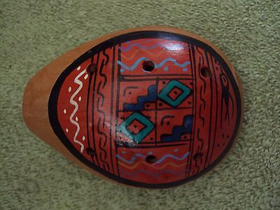 Ocarina Whistle from Peru Vibrantly Colored~ ON SALE