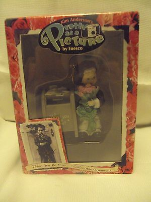 New~Enesco~Kim Anderson's Pretty As A Picture~1997~Won't You Be Mine~Ornament