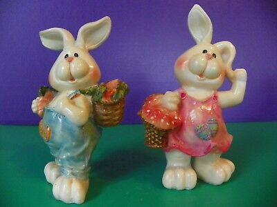 Adorable Easter Bunny Figurines