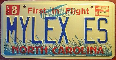 2006 North Carolina Vanity Personalized License Plate Auto Tag My Lexus Car Auto