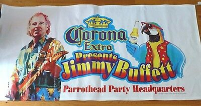NEW Corona Extra Jimmy Buffett Parrothead Party Headquarters Banner Vintage 3'x6