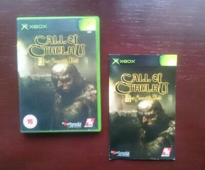 Call of Cthulhu (xbox) Rare - Box and manuals only