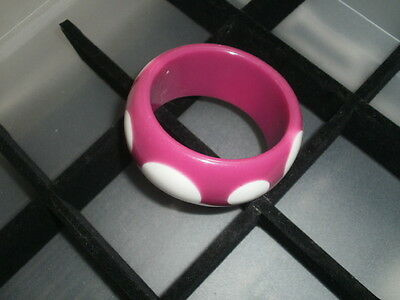 Chunky Polka Dots Injected Lucite Ladies Bracelet