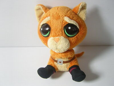 """9"""" PUSS IN BOOTS PLUSH SOFT TOY - DREAM WORKS SHREK Forever After - BIG HEADZ .C"""