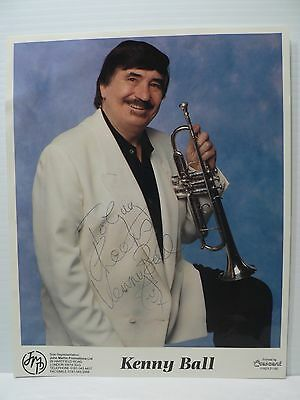 Kenny Ball Jazz Trumpeter Authentic Signed Autograph 8 x 10  Photo