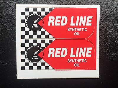 Red Line Stickers / Decals - Synthetic Motor Oil