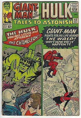 Tales to Astonish #62 5.5 FN- The Hulk 1st Leader Silver Age Marvel Comic Book