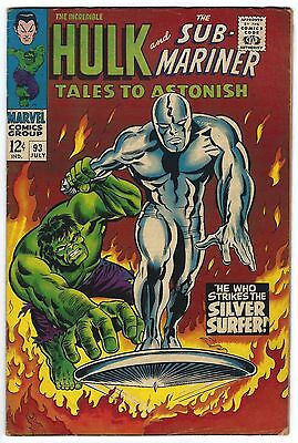 Tales to Astonish #93 6.0 FN Silver Surfer Silver Age Marvel Comic Book Classic
