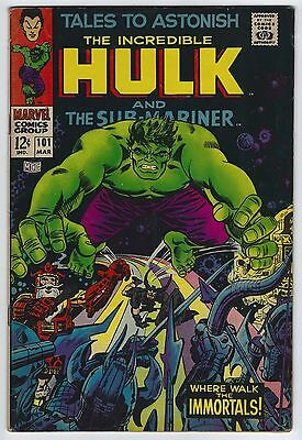Tales to Astonish #101 5.5 FN- Last Issue Silver Age Marvel Comic Book The Hulk