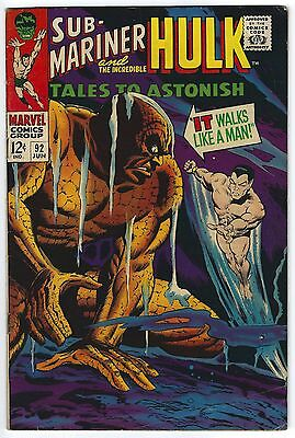 Tales to Astonish #92 6.5 FN+ Sub-Mariner Silver Age Marvel Comic Book Classic