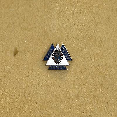 Past Grand Knights of Columbus Very Small 13mm height Lapel Pin Gold Enamel