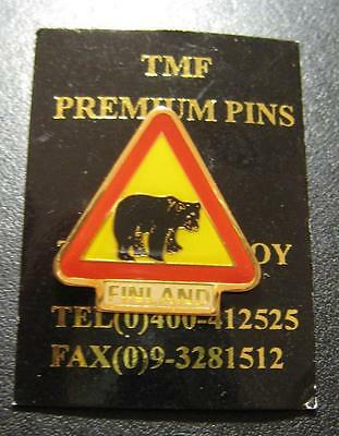 Finland Bear Brand New Pin