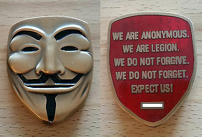 Anonymous Geocoin - Anti GOLD - SOLD OUT