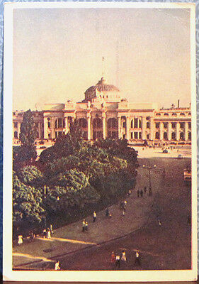 1954 Soviet Russian postcard TRAIN STATION IN THE CITY OF ODESSA