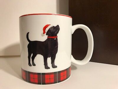 Black Lab Holiday Christmas Plaid Coffee Tea Mug by Celtic Canines NEW Good Gift
