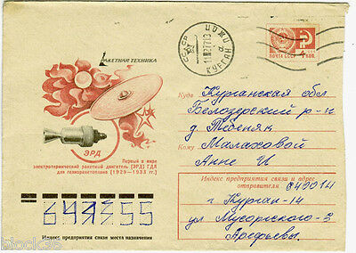 1976 Soviet letter cover THE FIRST ELECTRICALLY POWERED SPACECRAFT