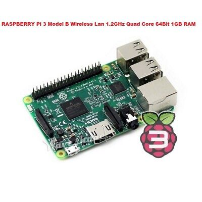 RASPBERRY Pi 3 Model B Wireless Lan 1.2GHz Quad Core 64Bit 1GB RAM