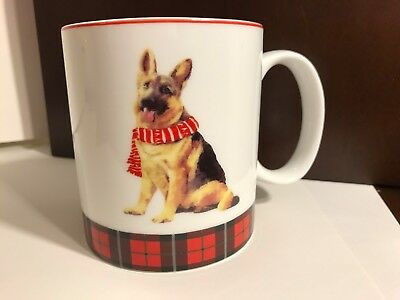 German Shepherd Plaid Holiday Christmas Coffee Tea Mug by Celtic Canines NEW