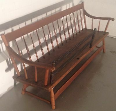 1800s nanny • MAMMY • rocking baby bench // Buffalo NY folk art furniture