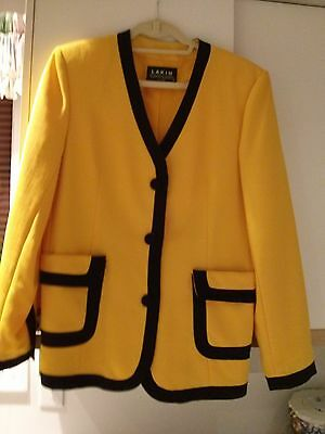 Jacket/Blazer designed by Lakin International in Golden Yellow & Black Size 12