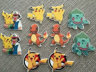 Pokemon Pikachu Characters Flatback Embellishments Crafts Hair Bows