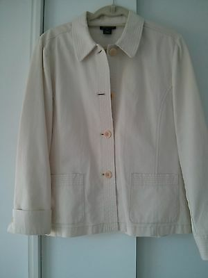 Jacket by Jones New York Signature size Large 100% Cotton Ivory or Cream Color