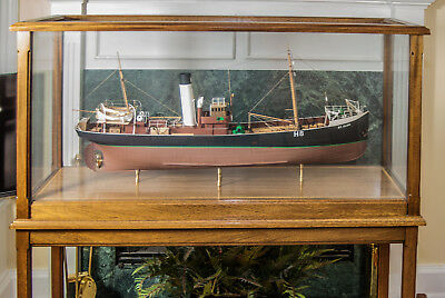 Scratch Built wood Model Ship St Elmo Fishing boat, MUSEUM SHOWPIECE New England