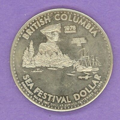 RARE SMALL DATE 1978 Vancouver BC Token Captain Cook Whitby Harbour SCARCE