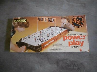 VINTAGE 1980'S COLECO POWER PLAY NHL TABLE HOCKEY GAME- MAPLE LEAFS vs CANADIENS