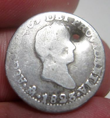 1823 Jm (Mexico) 1/2 Real (Iturbide) Silver --- Very Scarce Coin---- One Year---